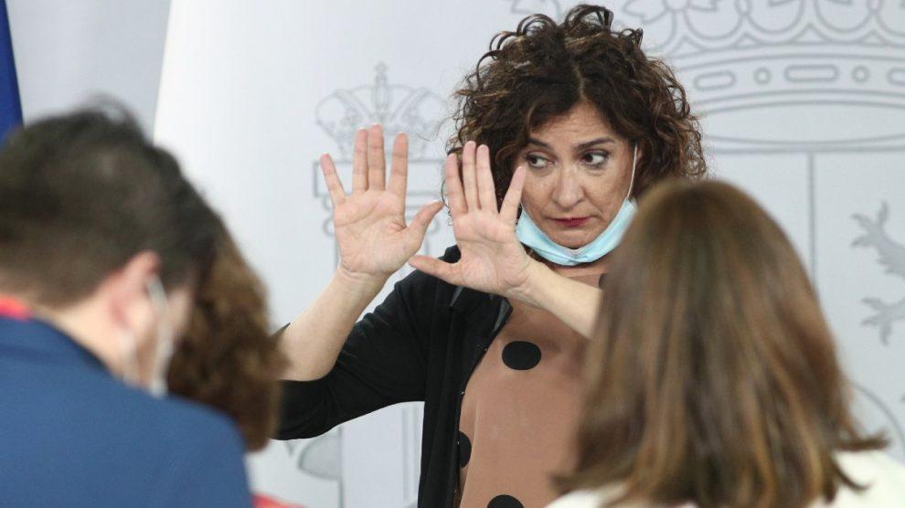 La ministra portavoz del Gobierno y de Hacienda, María Jesús Montero. Foto: EP