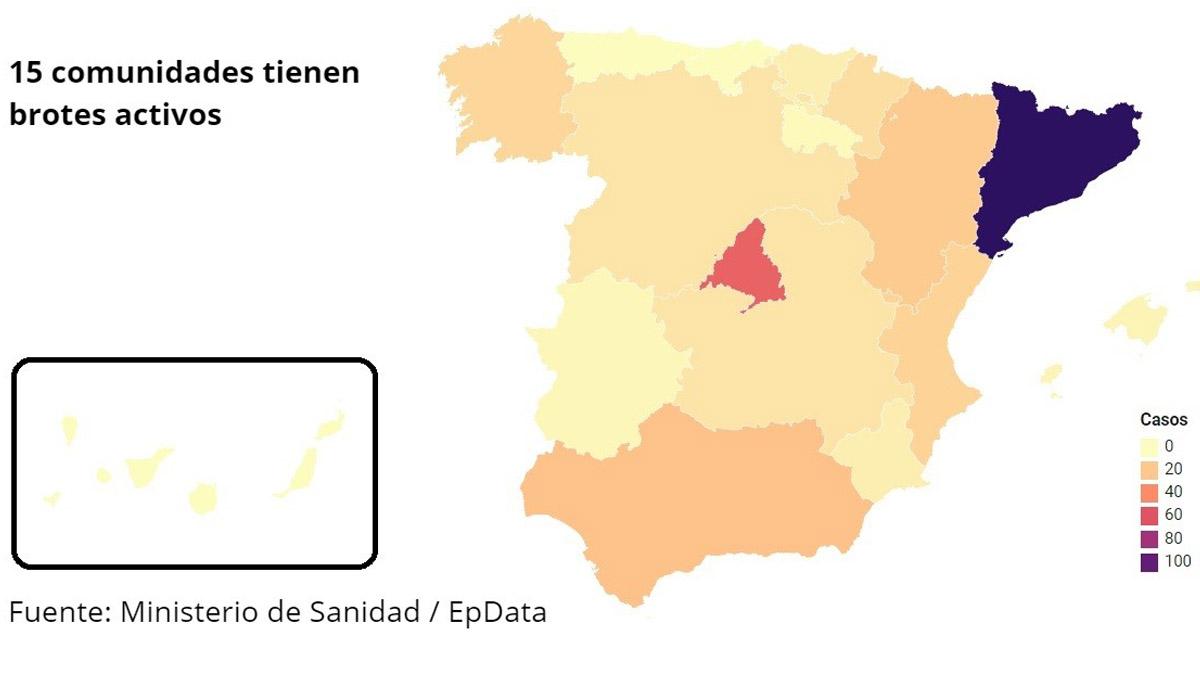 mapa rebrotes coronavirus 3 de julio 2020