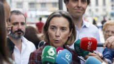 La vicesecretaria de Política Social del PP, Cuca Gamarra, y el vicesecretario de Comunicación del PP, Pablo Montesinos. Foto:EP