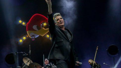 'Loquillo' durante un concierto en beneficio en el Wizink de Madrid. Foto: EP