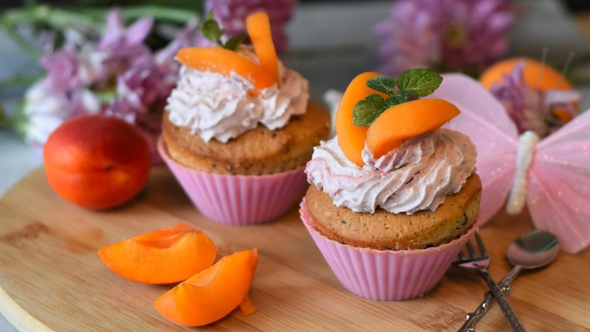 Muffins de albaricoque con arándanos