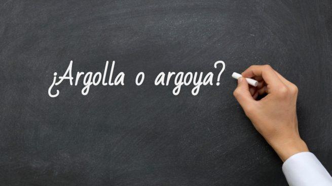 Cómo se escribe argolla o argoya