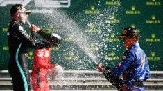 Bottas celebra el triunfo en el GP de Austria. (Getty)