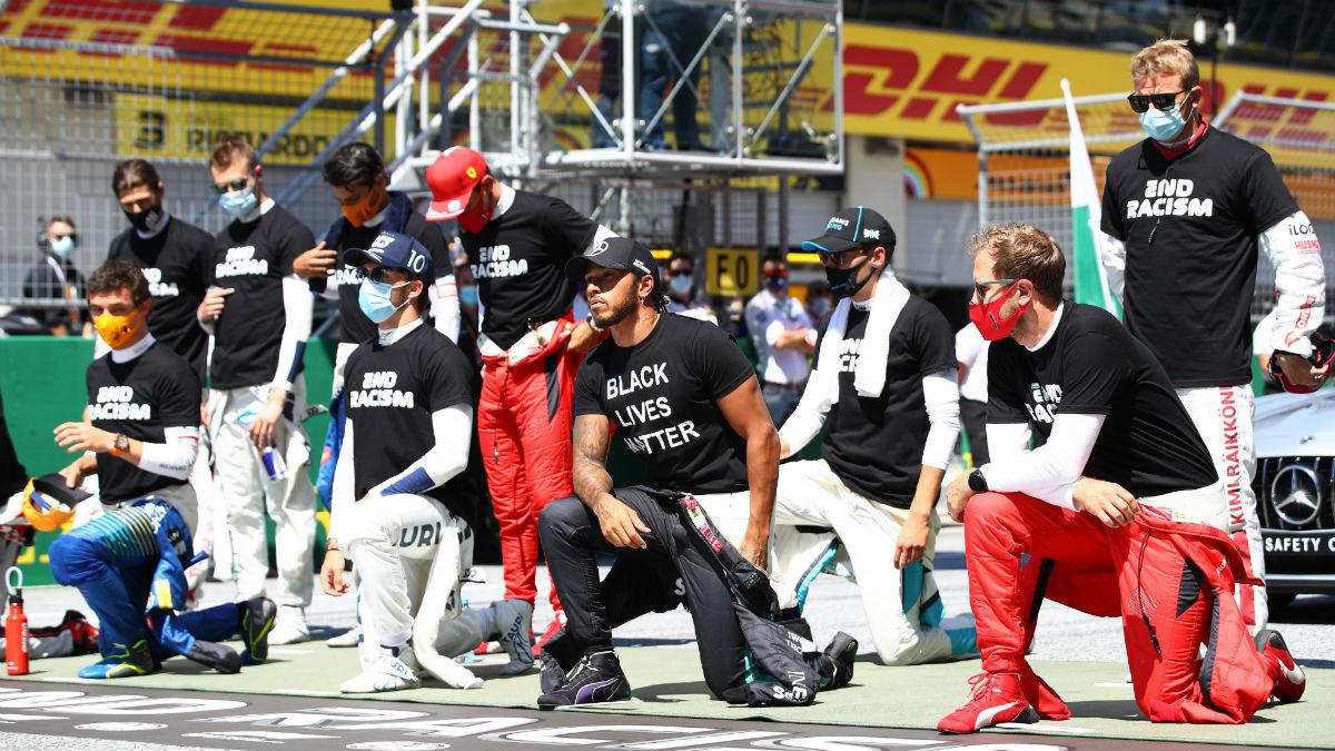 Condena hacia el racismo de la F1. (Getty)