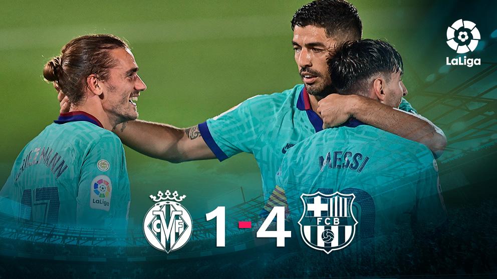 El Barcelona goleó al Villarreal en La Cerámica.