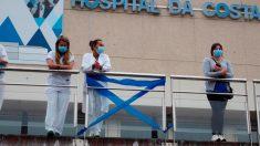 Hospital de Burela, uno de los municipios afectados por el confinamiento.