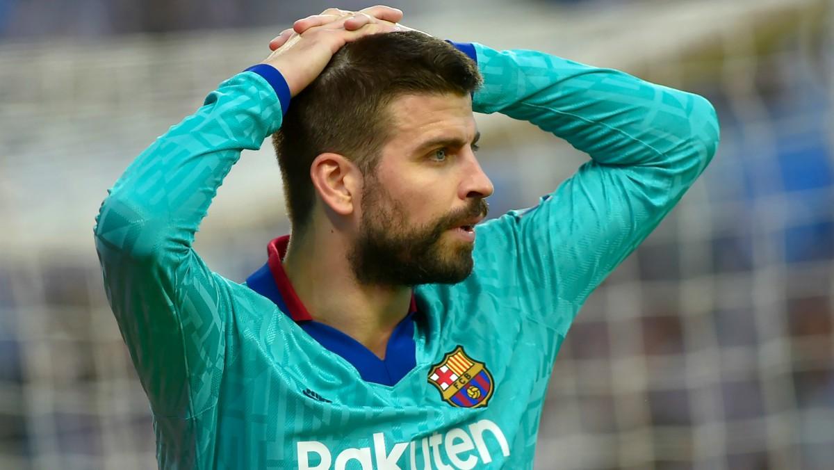 Piqué, en un partido del Barcelona. (AFP)