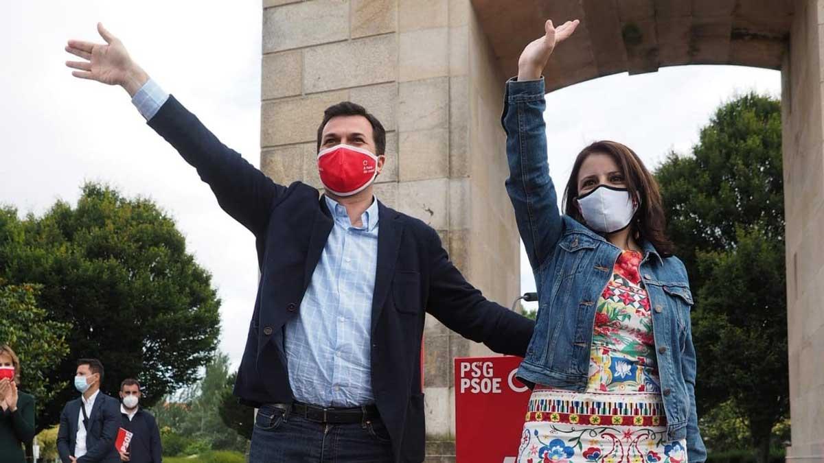 Gonzalo Caballero y Adriana Lastra. Foto: Europa Press
