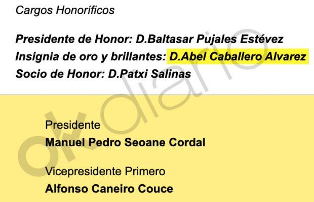 El alcalde de Vigo pertenece a la Junta Directiva del club de fútbol de Alfonso Caneiro.