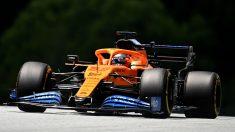 Carlos Sainz, durante el Gran Premio de Austria. (AFP)