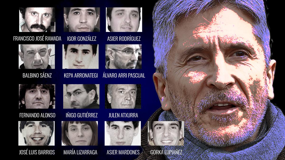 La lista de presos de ETA acercados por Interior en el último mes.