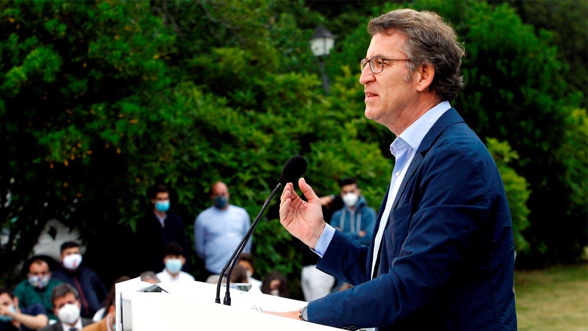 Alberto Núñez Feijóo en campaña (Foto: EFE)