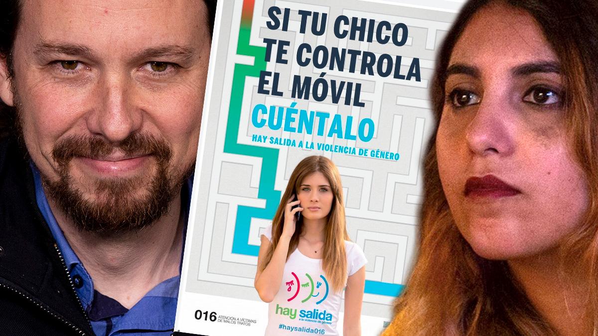 Pablo Iglesias, Dina Bousselham y la campaña de Igualdad.