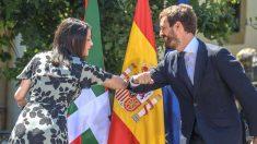 La presidenta de Ciudadanos, Inés Arrimadas; y el presidente del Partido Popular, Pablo Casado. (Foto: Europa Press)