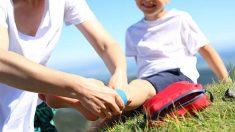 Los primeros auxilios con los niños en vacaciones