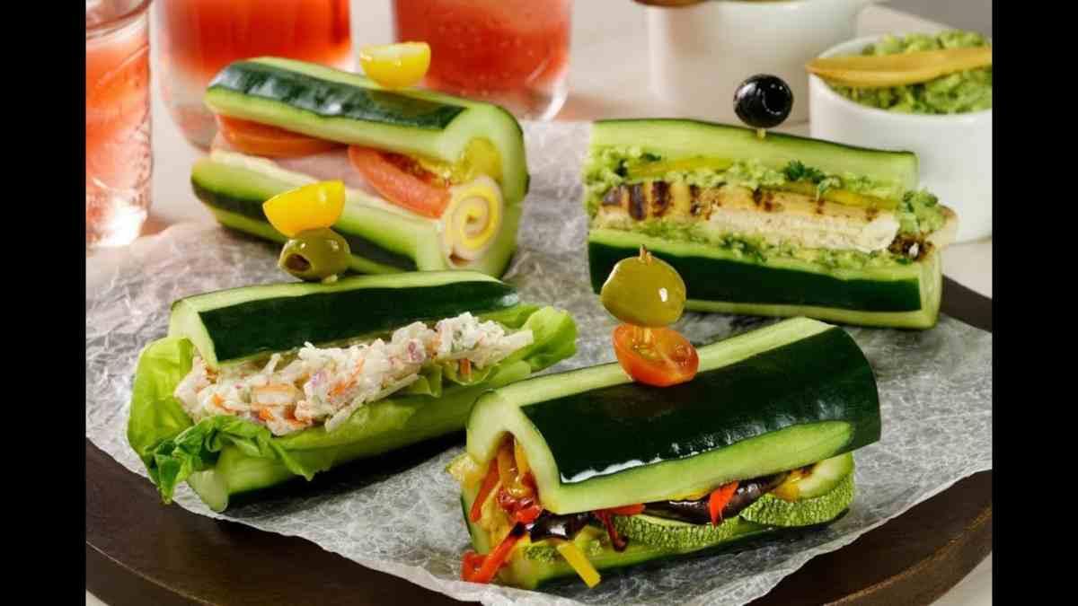 Receta de sándwich vegetal sin pan