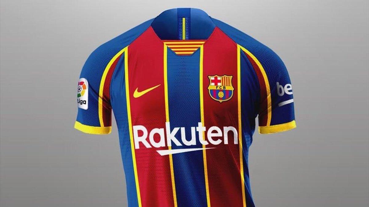La primera equipación del Barça que han tenido que retrasar hasta septiembre.