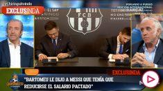 Inda desveló las diferencias entre Messi y Bartomeu.