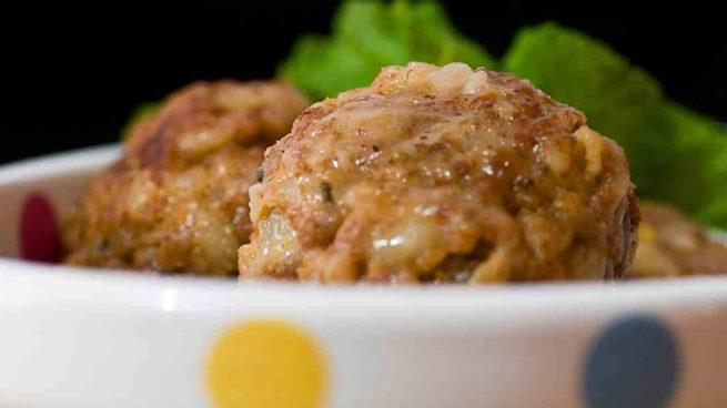 Albóndigas de boniato y carne de pavo