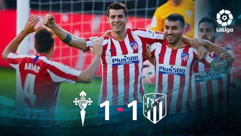 El Atlético empató contra el Celta en Balaídos. (AFP)
