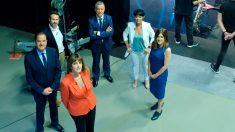 Debate electoral en la televisión vasca (Foto: EFE)