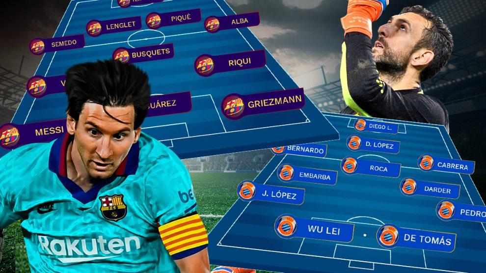 Barcelona y Espanyol se enfrentan en el Camp Nou.