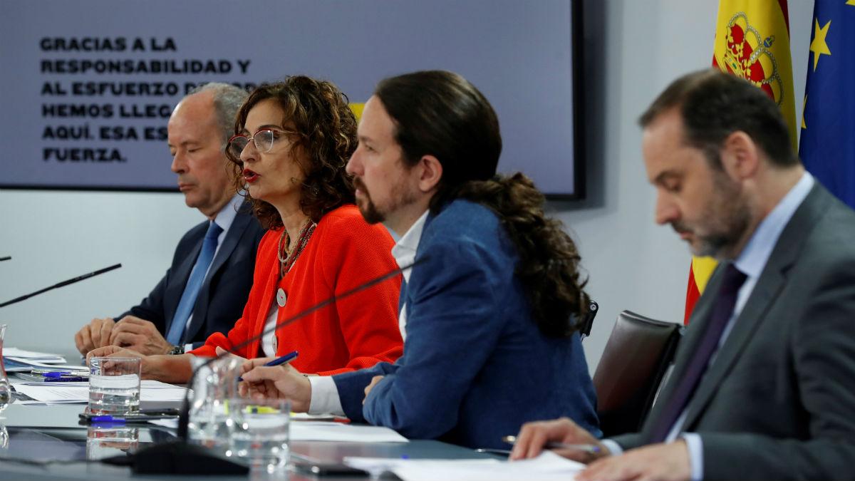 Pablo Iglesias en la rueda de prensa posterior al Consejo de Ministros
