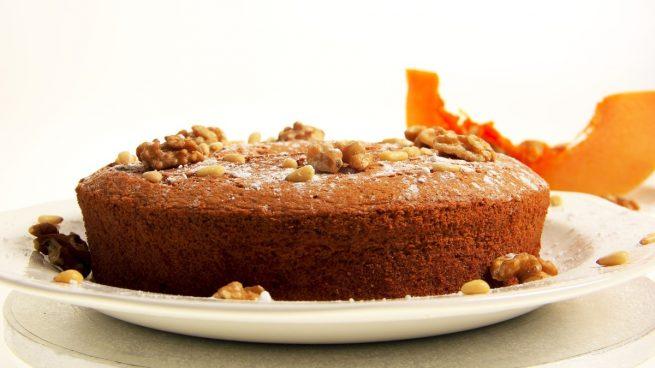 Receta de pastel de calabaza con nueces sin huevo