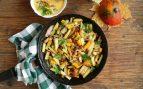 Receta de patatas salteadas con bacon y pimientos