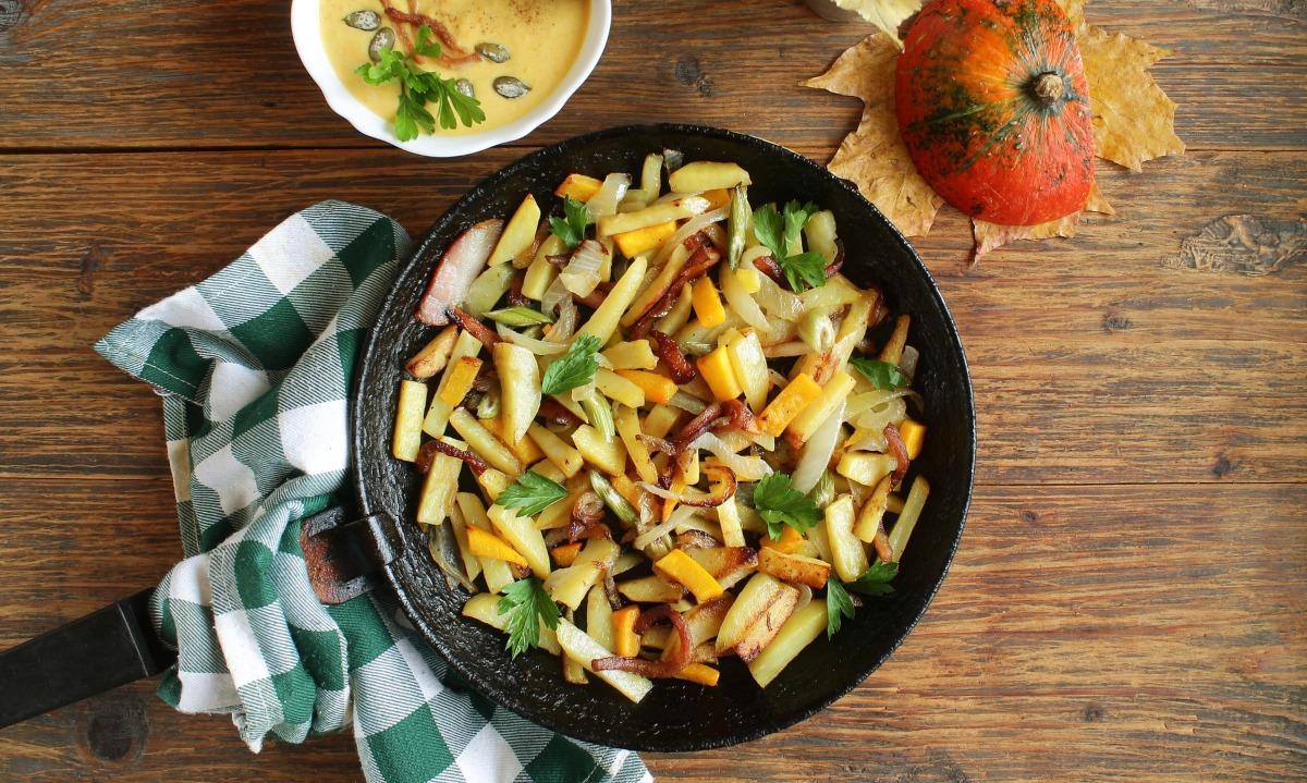 Patatas salteadas con bacon