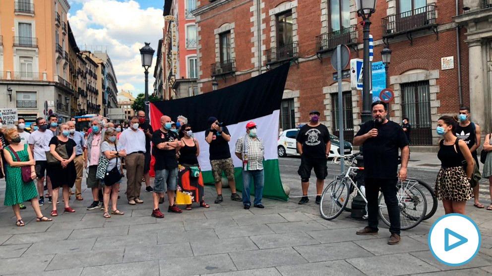 Concentración a favor del 'boicot a Israel' el pasado 1 de julio en Madrid. (Fuente: ACOM)