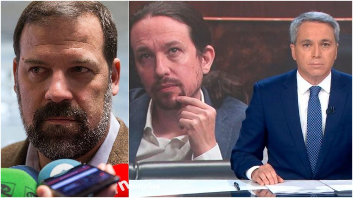 Alfonso Reyes, Pablo Iglesias y Vicente Vallés.