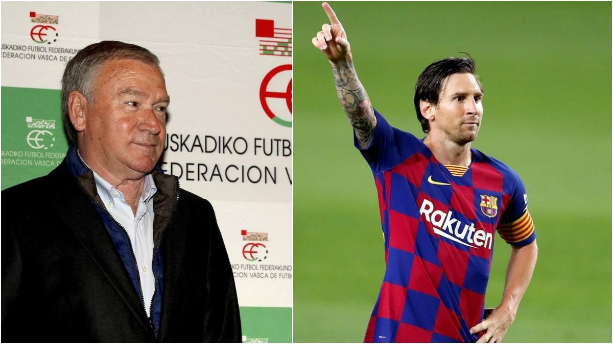 Clemente y Messi, en fotos de archivo.