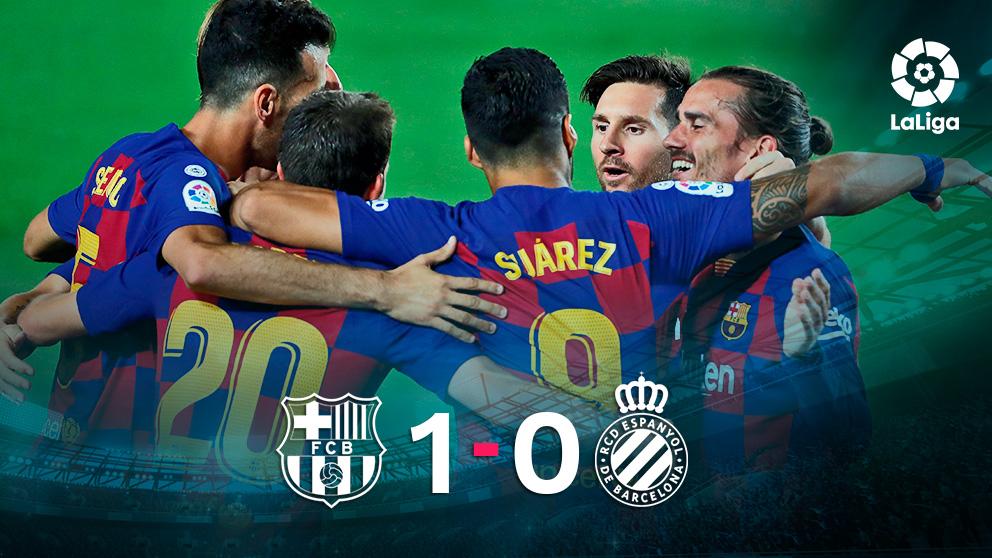 El Barcelona hizo un partido ramplón ante el Espanyol.