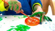 Cómo hacer tapas de colores para que los niños pinten