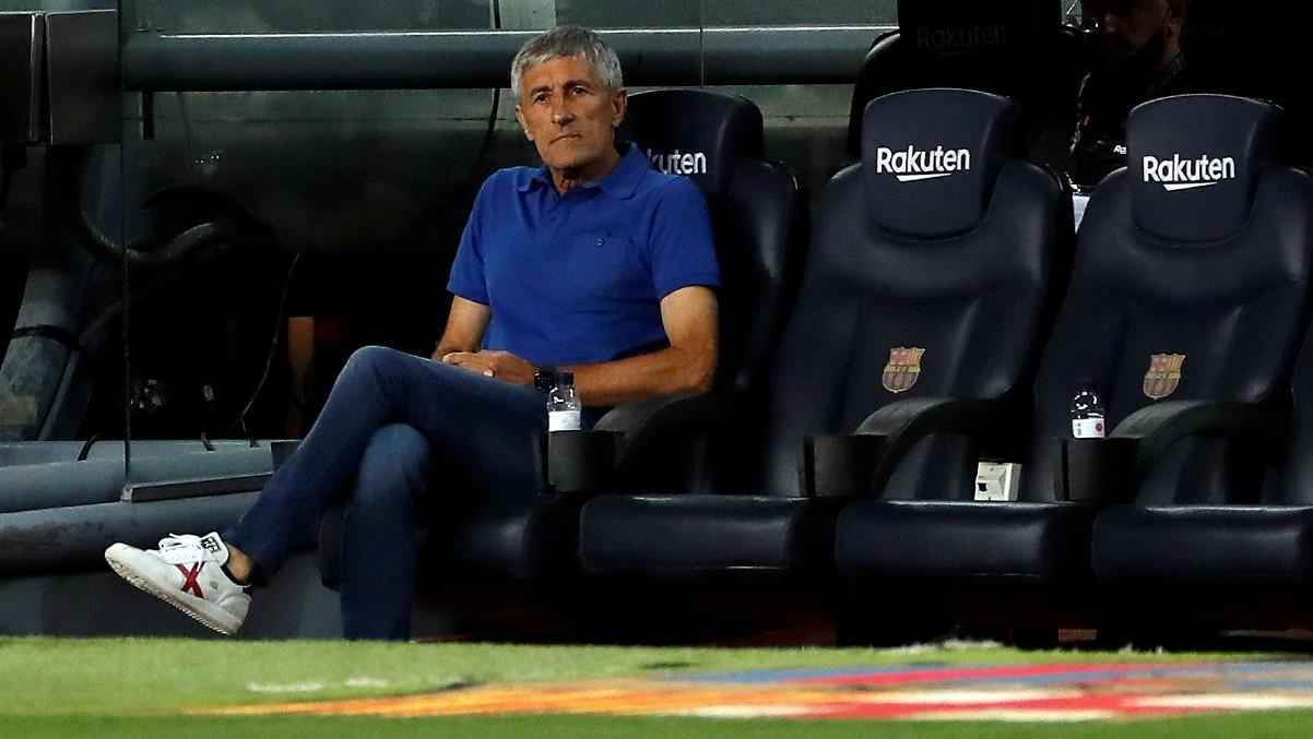 Quique Setién durante el partido ante el Espanyol. (EFE)