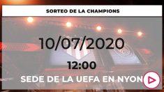 Sorteo de la fase final de la Champions League.
