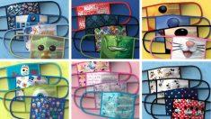 Descubre las mascarillas reutilizables para niños de Disney
