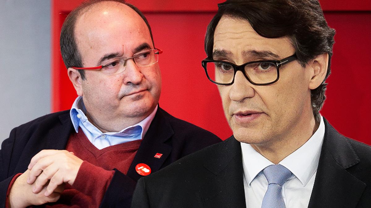 Salvador Illa y Miquel Iceta.