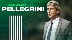Manuel Pellegrini, nuevo entrenador del Betis. (Foto: Real Betis)
