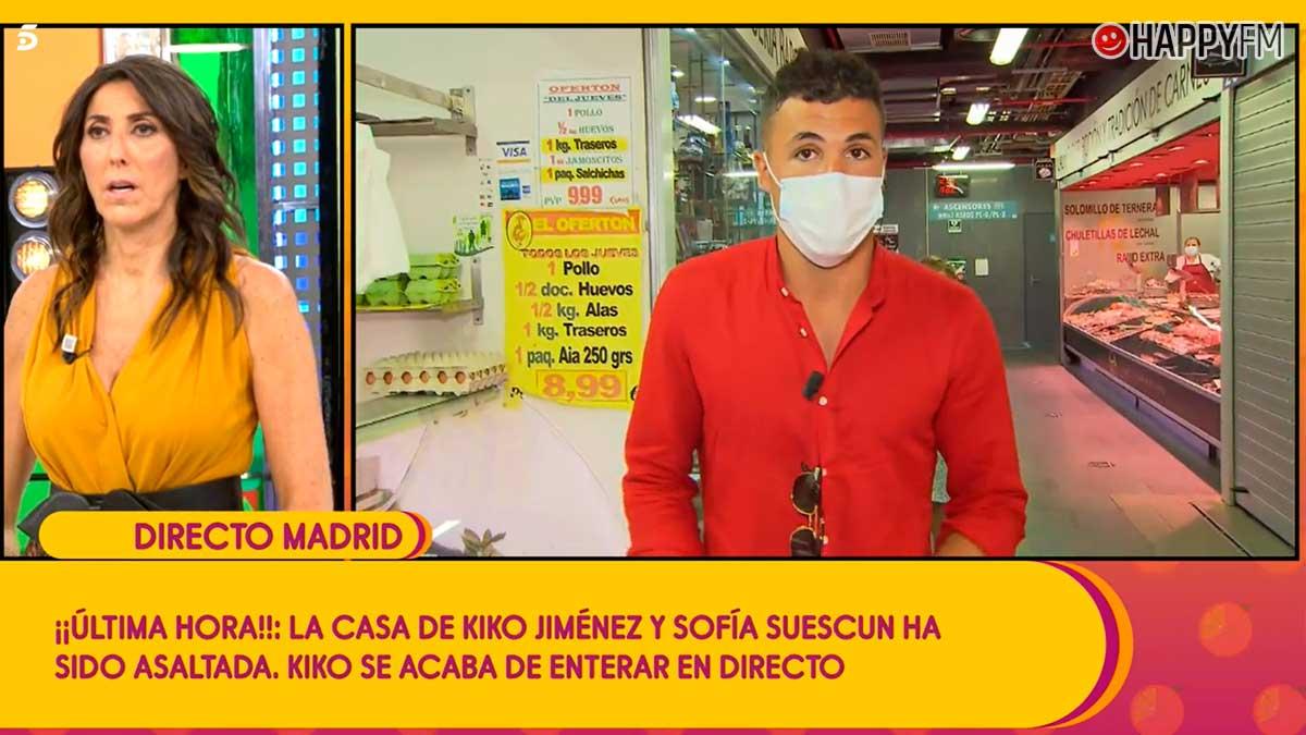 Kiko Jiménez se entera del robo en casa de Sofía