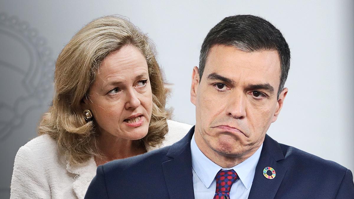 El presidente del Gobierno, Pedro Sánchez, y la vicepresidenta, Nadia Calviño.