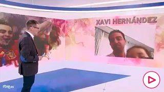 Xavi y su hija, durante la entrevista.