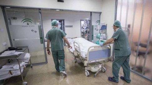Sanitarios españoles trabajando con pacientes de Covid en un hospital.