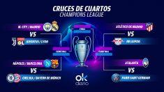 Así queda el cuadro final de la Champions League.