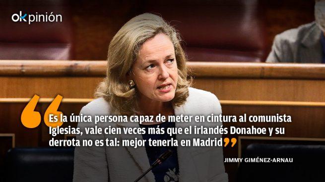 Nadia Calviño, noble ministra