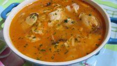 Receta de sopa de fideos con corvina