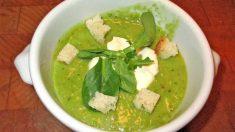 Receta veraniega de gazpacho verde