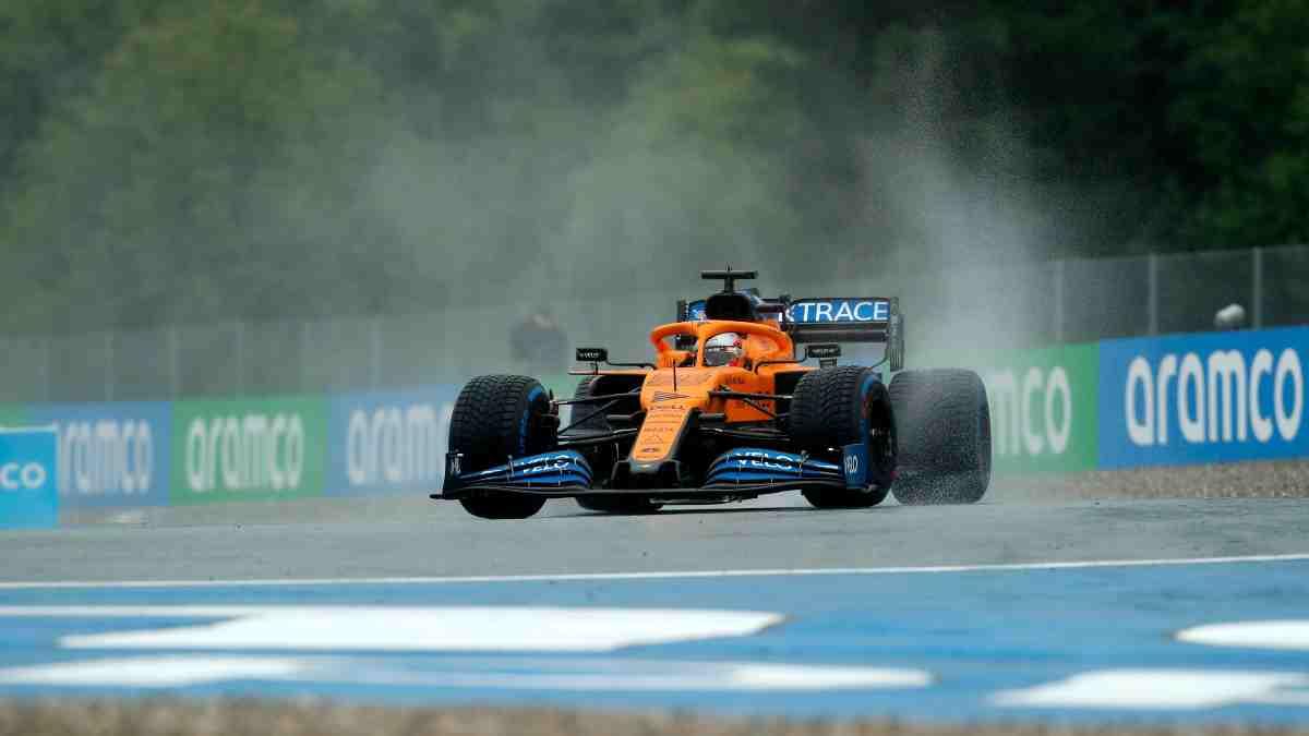 Carlos Sainz durante el GP de Estiria. (AFP)