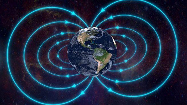 tierra campo magnético